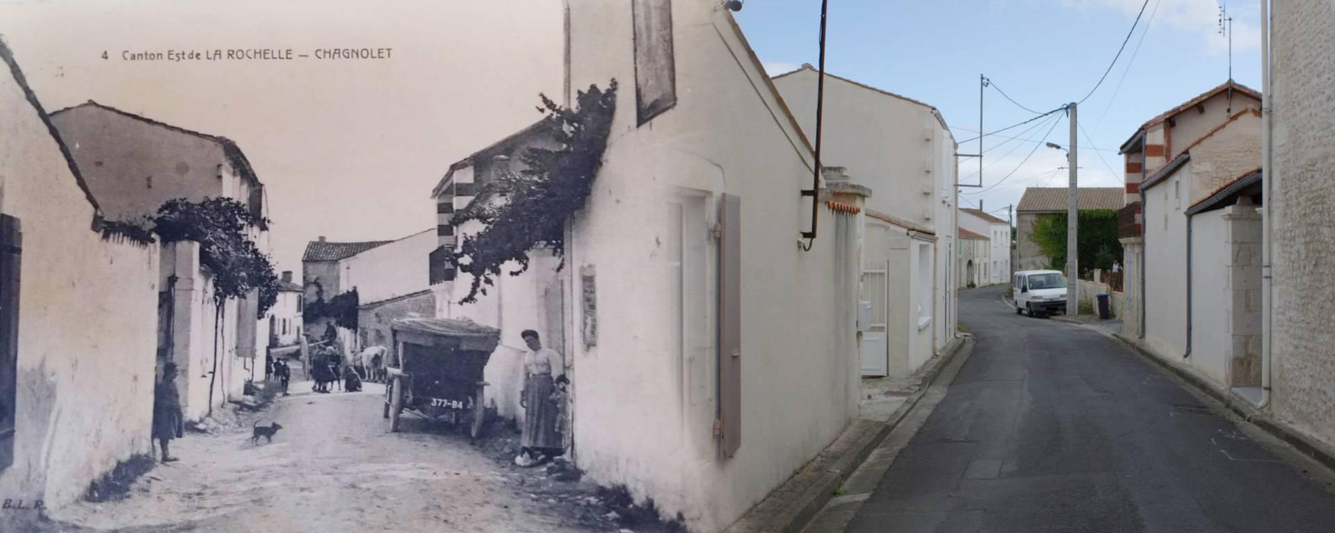 Photos de la Grande Rue de Chagnolet (avant/après)