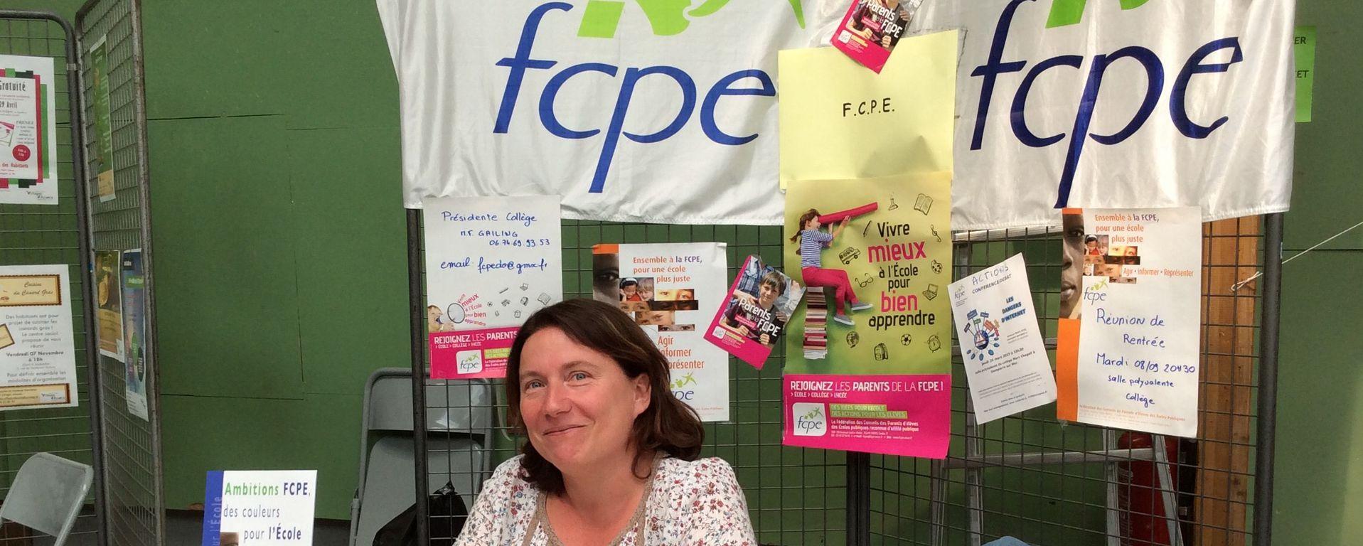 La FCPE lors du Forum Associatif en 2015 (Copyright - Mairie de Dompierre sur Mer)