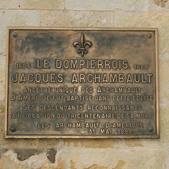 Plaque Archambault - © Mairie de Dompierre sur Mer